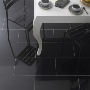 Super Black Polished 60X30 porcelain tiles