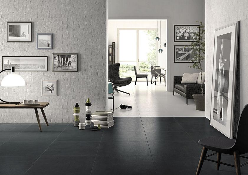 super black natural porcelain tiles
