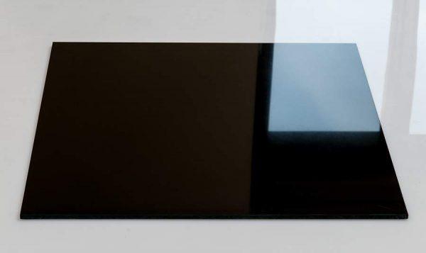 Super black polished porcelain tiles