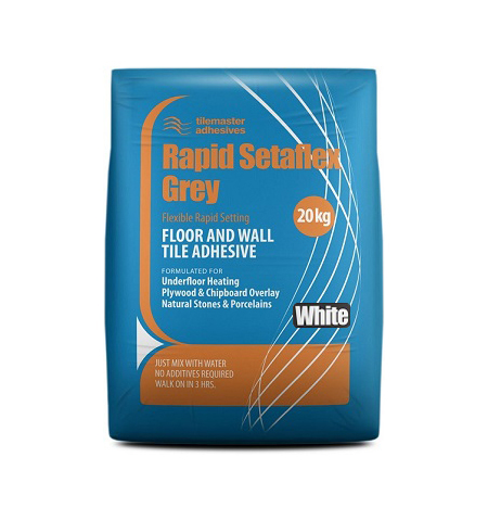 Adhesive 20kg Rapid Set Flexible Grey White Top Ceramics