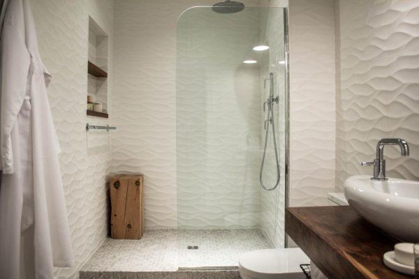 wall super white shiny leaves iporcelain tiles