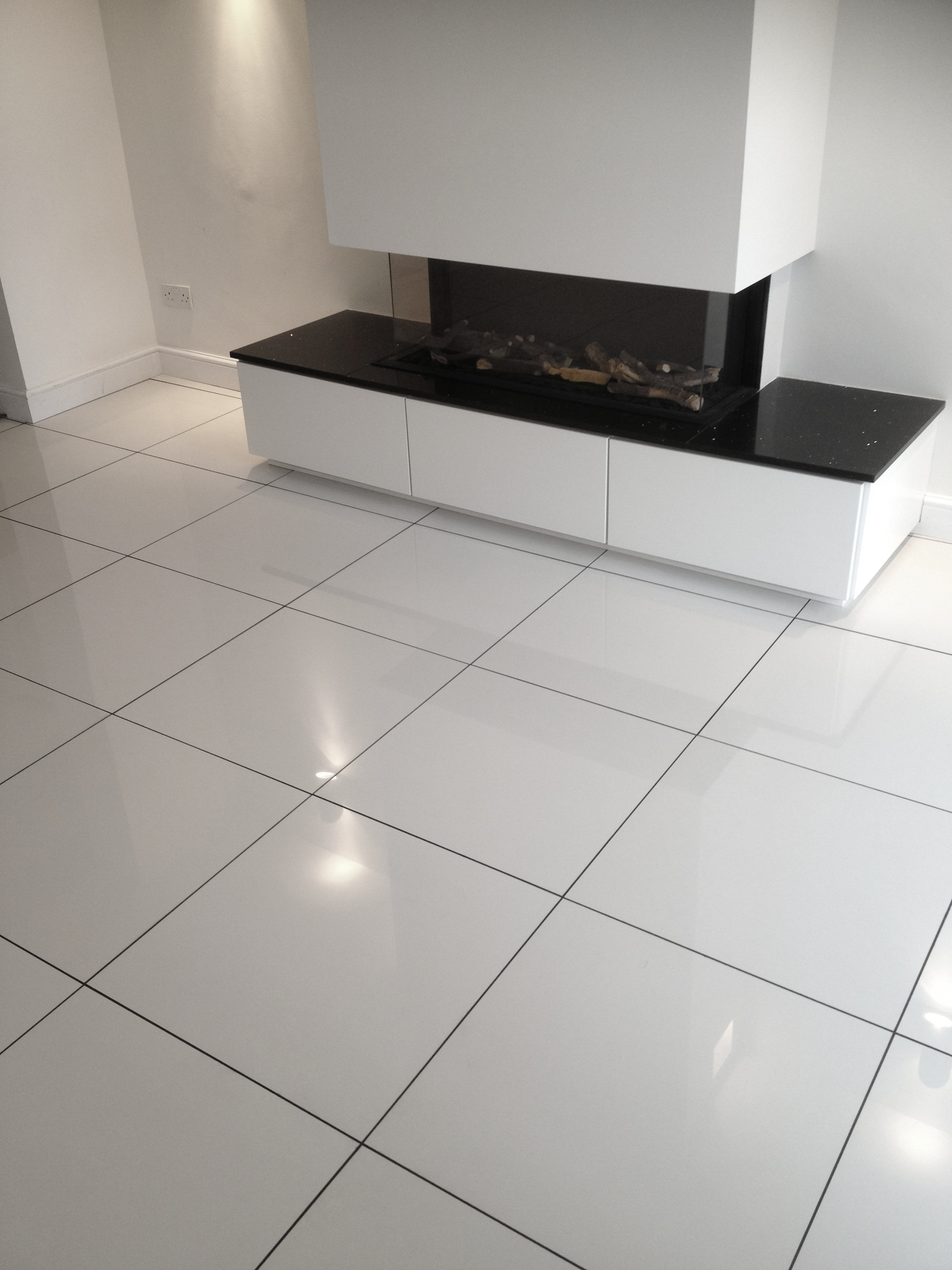 white porcelain tile floor. Super-White-Polished-60x60 White Porcelain Tile Floor H