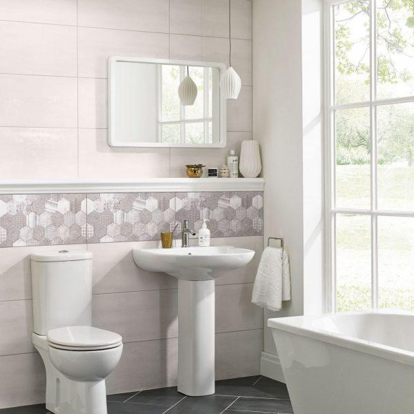 3D-Cemento-Perth-Hexagon-High-Gloss porcelain tiles